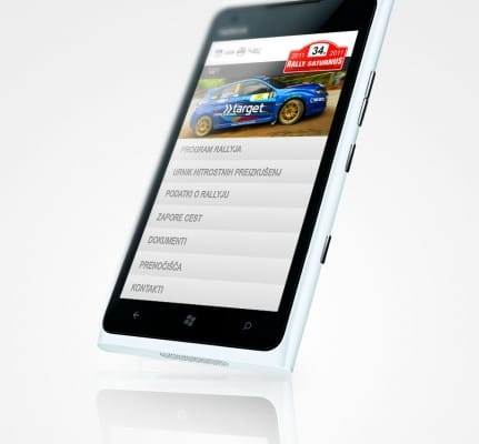 Rally Saturnus – Mobile Web App