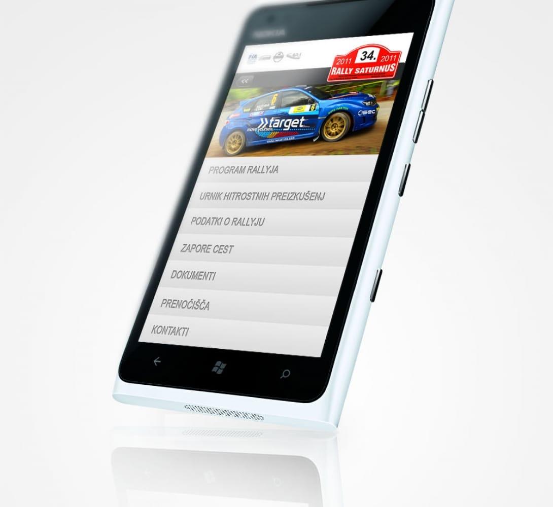 Rally Saturnus – Mobile Web App
